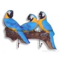 Polyresin/polystone parrots wall hooks Manufactures