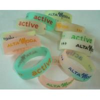 China colorfilled silicone band wholesale