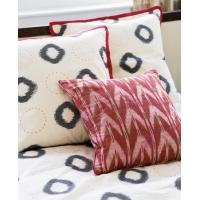 China Double Ikat Hand Embroidered Cushion Cover, Circles (Italy) on sale