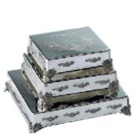 China Square Silverplated Cake Plateaus - 5 Sizes on sale