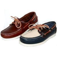 2 Pairs Combo Deal Leather Handswen Leather Boat Shoe Navy Brown Beige Plus Oiled Brown Pair Manufactures