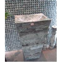 China Stone Sinks Square Marble Pedestal Sinks on sale