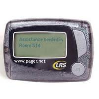 4-LINE ALPHANUMERIC STAFF PAGER Battery Operated Staff Pager