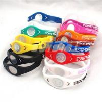 China Silicon Bracelet Silicone Wristband Health Bands with Retail Box Size S M L wholesale