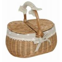 China willow picnic basket on sale