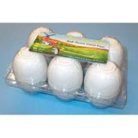 Glass Clear' 6-Egg Goose Egg Cartons, w/Label Manufactures