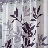 Buy cheap InterDesign Fabric Shower Curtain, Gray Leaves from wholesalers