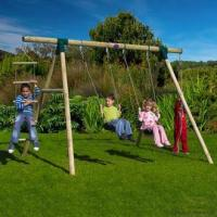 China Gibbon Wooden Garden Swing Set on sale
