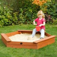 Triple Seat Wooden Sand Pit Manufactures