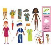 Arts & Crafts Djeco Paper Dolls- Costumes Of The World Manufactures