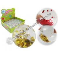 Diamond Cut Flashing Water Ball With Confetti Manufactures