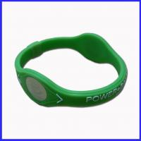 China Power balance silicone bracelet with ions on sale