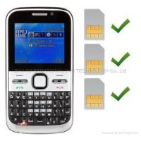 China F5 NOKIA E5 Copy Mobile Phone with Three SIM Cards Three Standby TV cellphones on sale