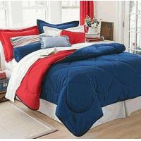 Dorm Room In A Box Navy/Red 10pc Set for XL Twin College Beds Manufactures