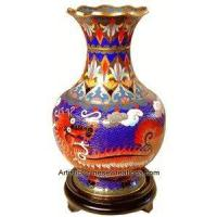 China Chinese Cloisonne Vase - Dragon on sale
