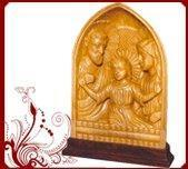White Wood Jesus Mary Statues Manufactures