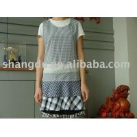 China cotton-flax/polyester-cotton blend adult aprons on sale