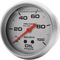 Gauges & Pods Silver Series Oil Pressure Gauge by Auto Meter Manufactures