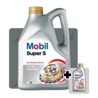 China 6L MOBIL SUPER S 10W-40 Semi Synthetic Engine Oil 5L+1L Free on sale