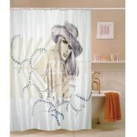 China Fabric Shower Curtains Sketch Beautiful Girl Fabric Shower Curtain M2801 on sale