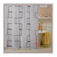 China Vinyl Shower Curtains Black And White Frame Shower Curtain W2502 on sale