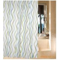 China Vinyl Shower Curtains Blue and Green Wave EVA Shower Curtain WL1804 on sale