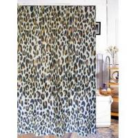 Fabric Shower Curtains Animal Leopard Print Fabric Shower Curtain T2601 Manufactures