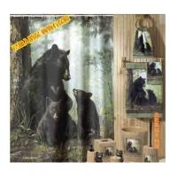 Fabric Shower Curtains Thicket Black Bear Fabric Shower Curtain S4501 Manufactures