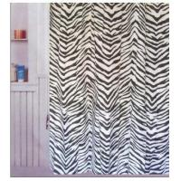 Fabric Shower Curtains Animal Zebra Print Fabric Shower Curtain T2602 Manufactures