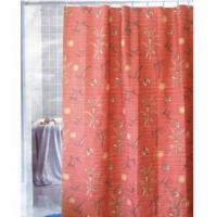 China Fabric Shower Curtains Sumptuous Red Flower Shower Curtain Y3024 on sale
