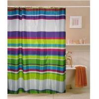 China Fabric Shower Curtains Gorgeous Green Blue Stripe Shower Curtain M3010 on sale