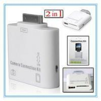 Compatible 2 in1 USB 2.0 Port SD Card Slot For Apple Ipad 2 Camera Connection Kit Manufactures