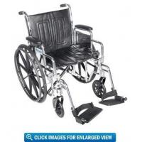Buy cheap Drive Medical Chrome Sport Wheelchair with 20