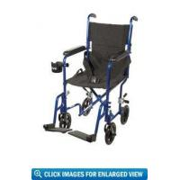 Buy cheap Drive Medical Deluxe Lightweight Aluminum Transport Wheelchair with 17