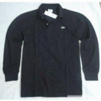 Lacoste Mens Polo Shirt long sleeved- Black Manufactures