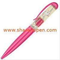 China Plastic floating ball pen for logo on sale