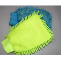 China Microfiber cleaning mitt on sale