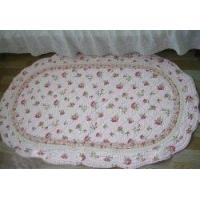 Shabby and Vintage Oval Pink Rose Quilted Rug/mat Manufactures