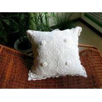 China Vintage Hand Crochet White Cotton Cushion Cover 15 on sale