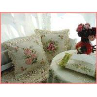 Vintage Hand Ribbon Embroidered/Crochet cushion cover C Manufactures