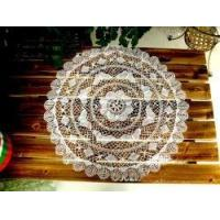 China Vintage Handmade Bobbin Lace White Round Table Cloth -Butterfly on sale