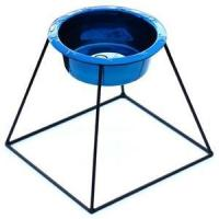 China Pyramid Diner Stand with 16oz Wide Rimmed Embossed Dog Bowl on sale