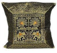 China Brocade Silk Indian Sari Pillow Cushion Cover Handmade Decor on sale