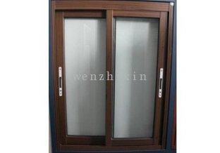 Black walnut mosquito net fly screen weatherproof aluminum for Residential windows for sale