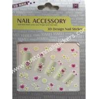 Buy cheap OEM BEAUTIFUL cool Heart + Star patterns Red + Yellow girls fingers 2d nail stickers from wholesalers