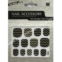 Buy cheap Beautiful 2d nail art designs Nontoxic ink Black color 2d nail stickers for skin ceramic from wholesalers