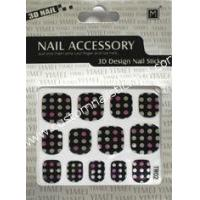 Buy cheap Customized finger nail styles Geometrical Pattern 2d nail stickers 70104mm from wholesalers