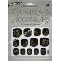 Buy cheap OEM design safe and easy art accessories girls finger beauty 2d nail stickers for glass from wholesalers