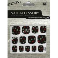 Buy cheap ODM cool black color Nontoxic ink 2d nail art full nail stickers for skin ceramic, metal from wholesalers