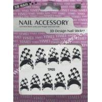 Buy cheap Custom simple polish nail styles Black + White color 2d nail stickers Beauty design from wholesalers